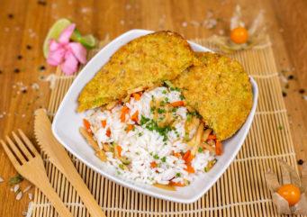 Plat Chaud Steak Veggie et riz aux légumes