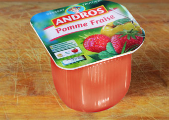 Compote pomme fraise