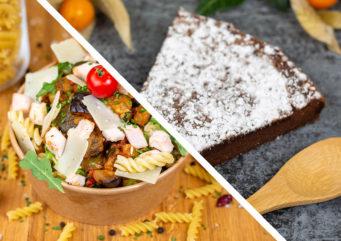 Formule salade de pâtes & dessert