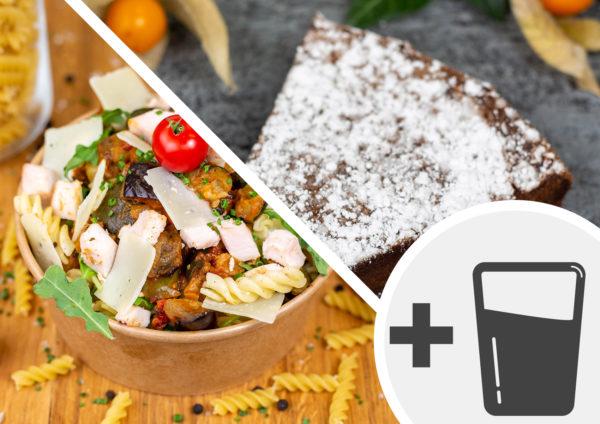 Formule salade de pâtes & dessert + boisson