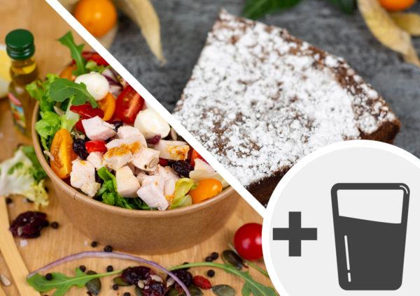 Formule salade verte & dessert + boisson
