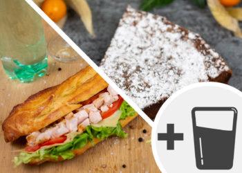 Formule sandwich & dessert + boisson